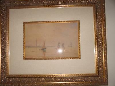 William F. Settle 1877 Original Pencil & Pastel Painting On Paper Framed Coa