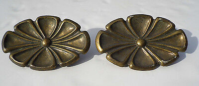 "Set of 2 Vintage Large 5"" KBC  Keeler Brass Co. Drawer Pulls Handles N7052"
