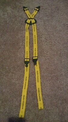 HELLY HANSEN Men's Suspenders Yellow and Green Preowned