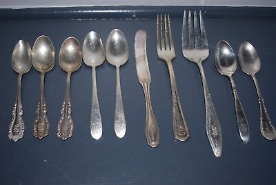 Silverware, Engraved Lot of 10.