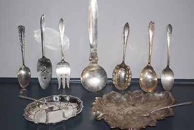 Silver Ware Serving Lot of 11