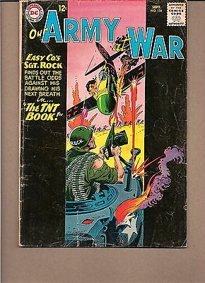 "Our Army At War  #134 1963  Dc  Vg-  ""sgt. Rock's-Easy Co.""kubert"