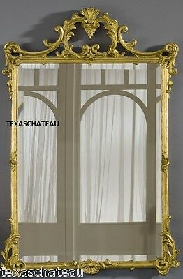 Large Ornate Antique Gold Wall Mirror French Regency Baroque Vintage Style New