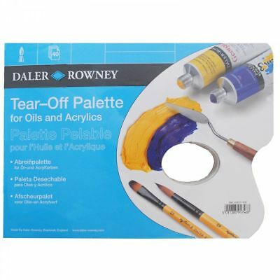 Daler Rowney Tear Off Disposable Palette Oil / Acrylic - Choose A4 or A3