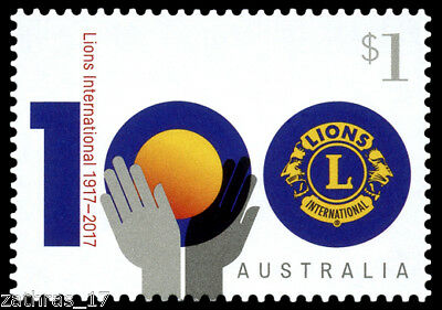 2017 Centenary of Lions Clubs International Stamp - MUH