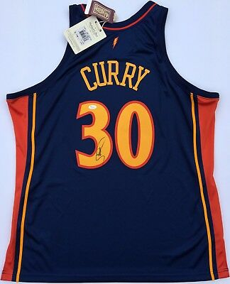 aa77612fb ... inexpensive stephen curry 30 signed 2009 golden state warriors  authentic rookie jersey jsa 68aef a00a8