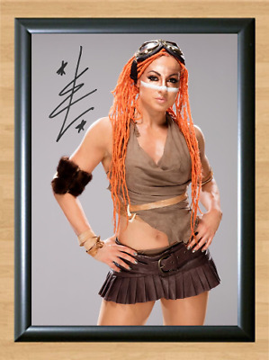 Becky lynch WWE Signed Autographed A4 Print Photo Poster Memorabilia Diva wwf 2