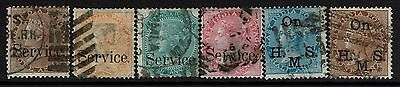 India 6 Victoria Used Officials -  Lot 052817