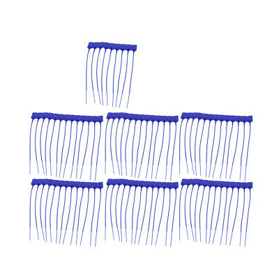 100Pcs 230mm Length Self-Locking Nylon Labels Cable Tie Zip Deep Blue