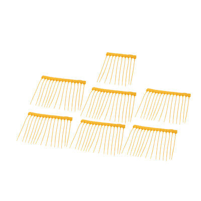 100Pcs 250mm Length Self-Locking Nylon Labels Cable Tie Zip Yellow