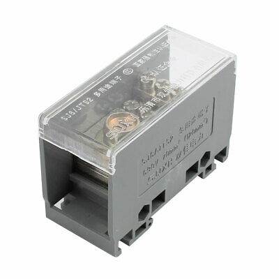 1 Input 8 Output 2 Positions 4 Rows 690V Wire Terminal Block Gray
