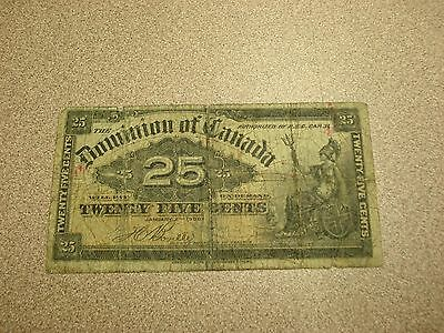 1900 - Canadian Shinplaster - 25 cent Canada note -