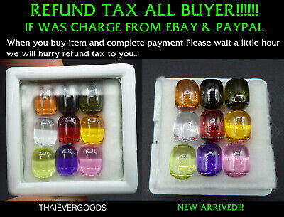 Real Naga Gem 9 Color Shape Tube 9 Color Enhance Good Fortune Life Thai Amulet