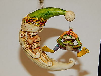 Harmony Kingdom Artist Neil Eyre Designs Christmas Santa Hat Moon Rainbow Frog