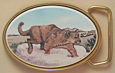 Belt Buckle Barlow Photo Reproduction Mountain Lion Traditional 590635c NEW