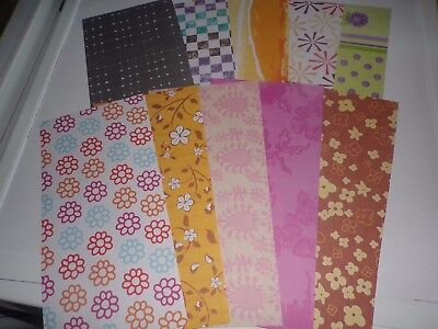 10 Sheets Beautiful Paper For Crafts Etc/circa 30X15 Cm/ (M03)/1 Sided / New