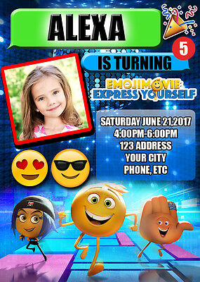 Emoji Birthday Invitations Invite Custom Personalized
