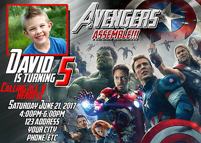 Avengers Birthday Invitations Invite Custom Personalized
