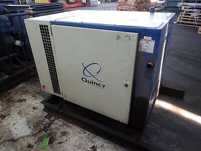 Quincy QSB 15  15 hp. Rotary Screw Air compressor, 1yr.  Airend Warranty