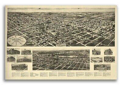 1924 Valley Stream New York Vintage Old Panoramic NY City Map - 20x30