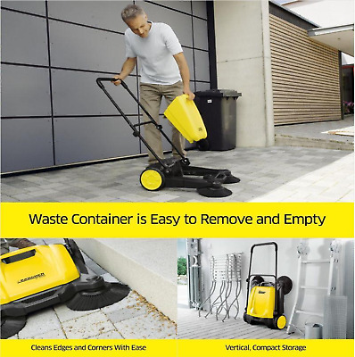 Industrial Push Broom Dust Sweeper Floor Cleaner Household Patio & Driveway USA