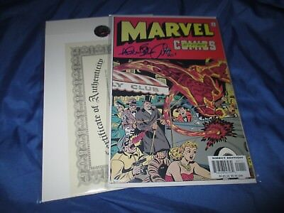 MARVEL MYSTERY COMICS Signed #1 by Allen Bellman ~Timely/Sub-Mariner/Human Torch