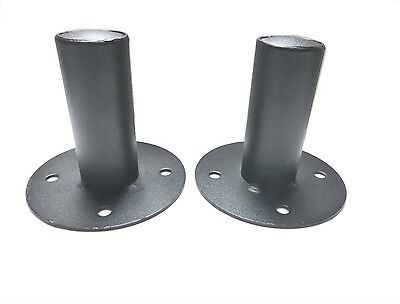 (2) Two  DJ/PA Metal Tripod Speaker Stand Mounting Internal Adapters (Top Hat)