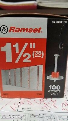 Ramset Powder Fastening Systems 1512SD 1-1/2-Inch Washered Pins, 100 Pack