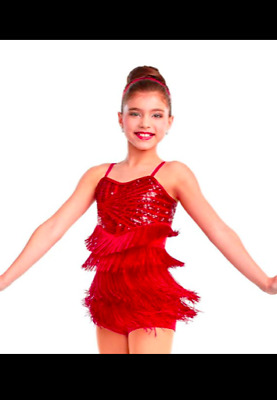 Swing & Groove - Sequin Fringed Jazz Tap Dance Costume Curtain Call Child Large