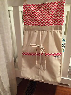 Baby nappy/diaper Stacker - Pink Chevron