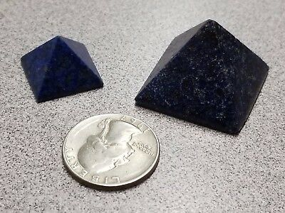 Set Of 2 Lapis Lazuli Egyptian Pyramids Minerals Gems Rocks Gemstones