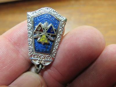 Fraternal Order of Knights of Pythias FCB Pocket Watch FOB Charm Old (17j2)