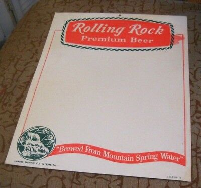 (Vintage) Rolling Rock Beer Labrobe Brewing Co Advertising Sign Labrobe Pa