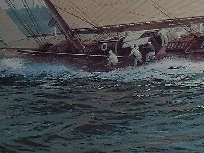 Nautical Sail Boat Painting, by English artist: John Stephen Dews. Hand Signed