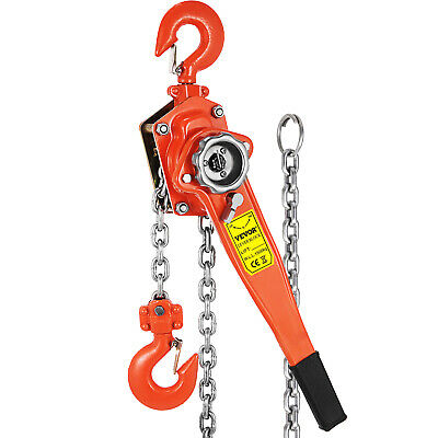 1-1/2 Ton Lever Block Chain Hoist Ratchet Type Comealong Puller Lifter