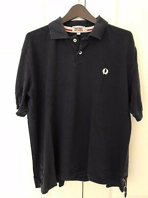 2c9f0132861a Fred Perry   Nigel Cabourn Blue Cotton Pique Short Sleeve Polo Shirt - Size  44
