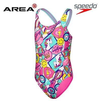 Speedo Toddler Girls Girly Things Leaderback One Piece  Swimwear, Children's Swi