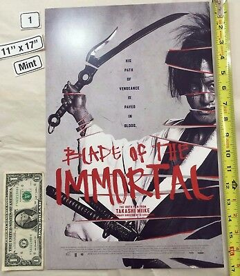 Blade of the Immortal 11 x 17 Poster Takashi Miike 2017 NYCC Sliced Manji LE