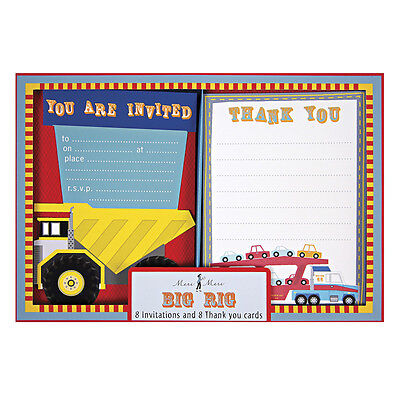 Big Rig Party Invitations/Thank You Notes By Meri Meri