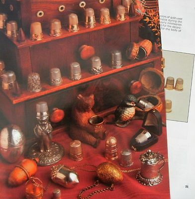 24p History Article + Color Pics -   Antique Sewing Thimbles