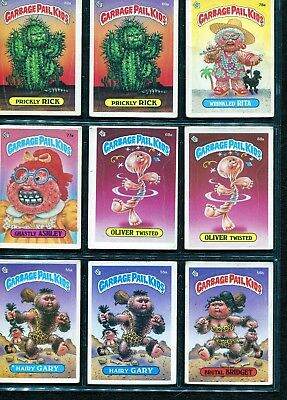 1985 - Series 2 - Garbage Pail Kids Cards - Mixed sheet of 9 cards - EX/MT