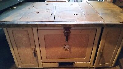 Vintage antique wood cook stove -Round Oak