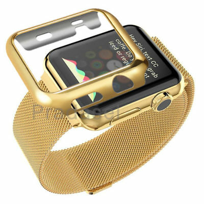 Stainless Steel Bracelet Strap For Apple Watch Band Case 42mm Gold Series 2 3