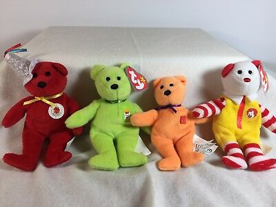 6c18d3f08d4 TY Teenie Beanie Baby McDonalds 2004 - 25th Anniversary Ronald Happy Meal  Fries