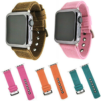 Sport Canvas Fabric Strap for Apple Watch iWatch Series 5 4 3 2 Band Watch Belt