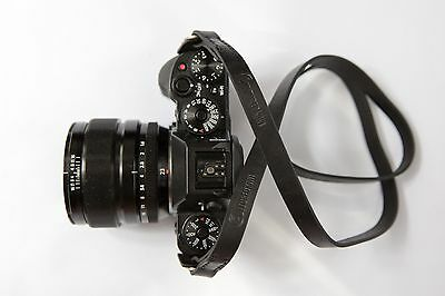 Ltd. Edition Vintage Leather Camera Strap for Leica, Sony etc. (Black, 95cm)