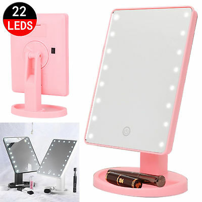 Model 22 LED Touch Screen Makeup Mirror Tabletop Cosmetic Vanity light up Mirror