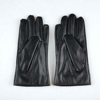 Men's Fashion Winter Leather Motorcycle Full Finger Touch Screen Warm Gloves