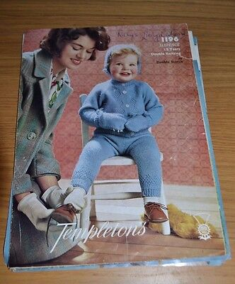 Templetons * Dk * Vintage Childs Outfit Knitting Pattern * 1196