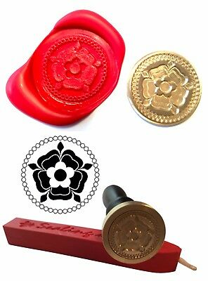 Wax Stamp, TUDOR ROSE Coin Seal and Red Wax Stick XWSC095-KIT